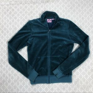 Juicy contoure Velour full zip jacket.